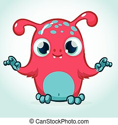 Cute monster cartoon vector