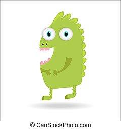 Cute Monster kids logo monster vector set. - Cute Monster...
