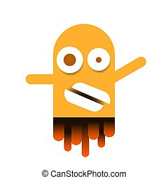Cute Monster Logo For Packaging And Design Vector Illustration
