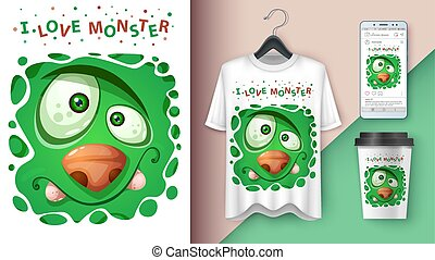 Cute monster - mockup for your idea
