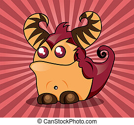 Cute monster, vector illustration