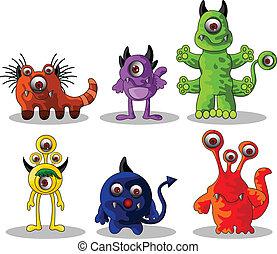 cute monsters cartoon