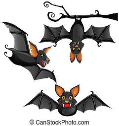 cute, morcego, vetorial