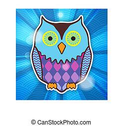 cute motley owl