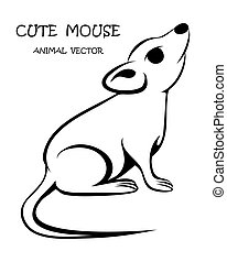 Cute mouse animal vector eps 10