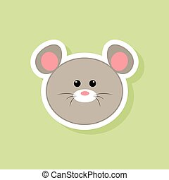 cute mouse face