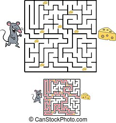 Cute Mouse s Maze Game help mouse to find his cheese Maze puzzle with solution