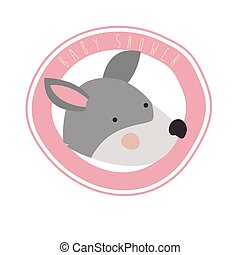 cute mouse with circular frame