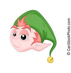 Cute Naughty Elf Character Face