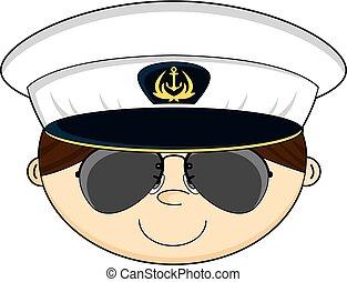 Cute Navy Officer Head