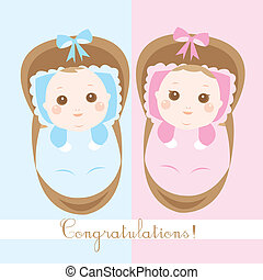 cute new born babies shower card