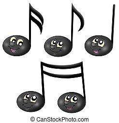 cute, notas música
