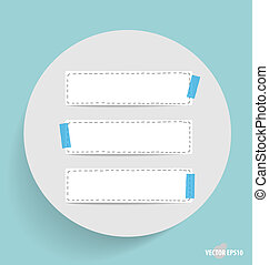 Cute note papers, ready for your message. Vector...