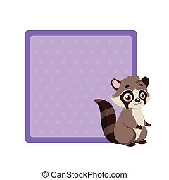Cute notepad with raccoon