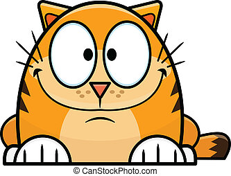 Cute Orange Cartoon Cat