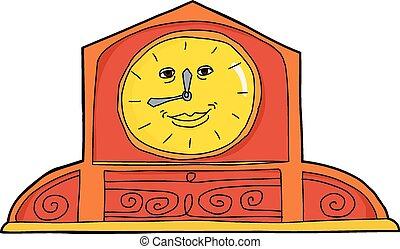 Cute Orange Mantle Clock