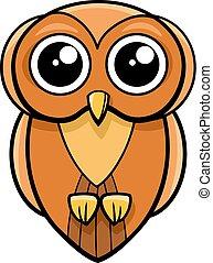 cute owl animal character