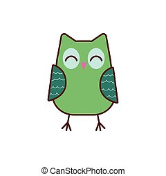 cute owl animal comic character