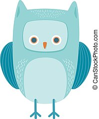 cute owl bird animal character
