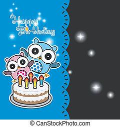 Cute owl birthday