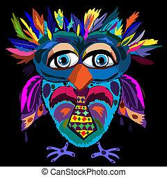 Cute Owl, cartoon drawing, cute illustration for children, ...