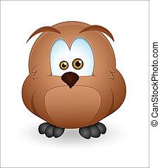 Cute Owl - Creative Abstract Conceptual Design Art of Cute...