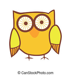 Cute owl. Vector bird.
