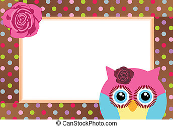 Cute Owl with Bank Label