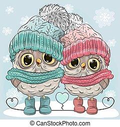 Cute Owls Boy and Girl