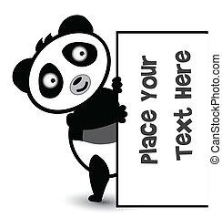 cute panda banner