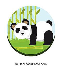 Cute panda bear cartoon