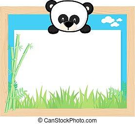 cute panda bear frame