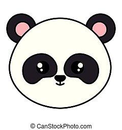 cute panda bear head character