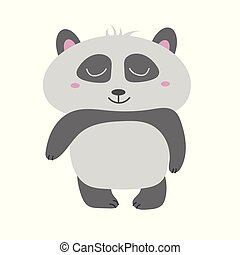 Cute Panda Bear vector illustration. Animal vector. hand drawn panda