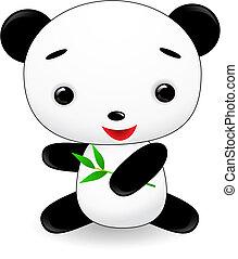cute panda cartoon