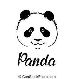 cute panda hand drawn