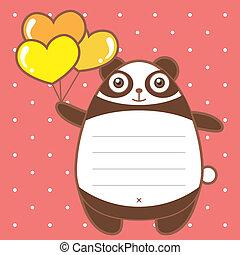 cute panda of scrapbook background.
