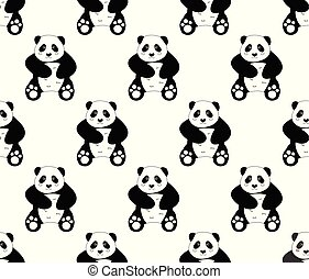 Cute Panda on White Background
