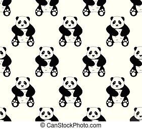 Cute Panda on White Background