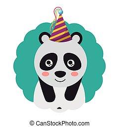 cute panda party hat birthday