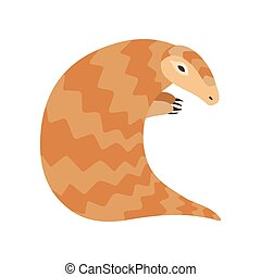 Cute Pangolin Rare Species of Animals Vector Illustration