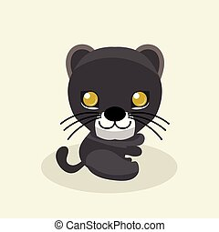 Cute panther character.