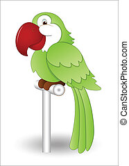 Cute Parrot - Creative Design Art of Cute Cartoon Parrot...