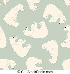 cute, pattern., bjørn