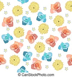 Cute pattern in small different flower.