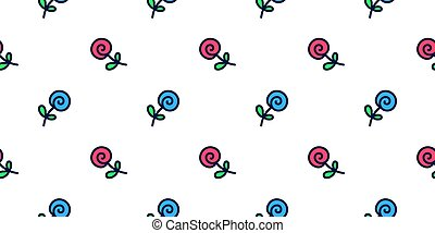 Cute pattern of roses in doodle style.