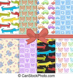 Cute pattern with animals for baby