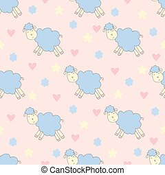 cute pattern with sheep