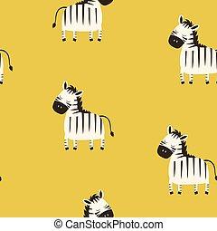 cute pattern zebra