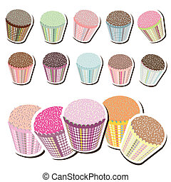 Cute Patterned Cupcakes